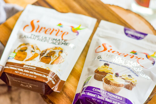 Swerve brand brown sugar substitute and confectioners' sugar substitute.