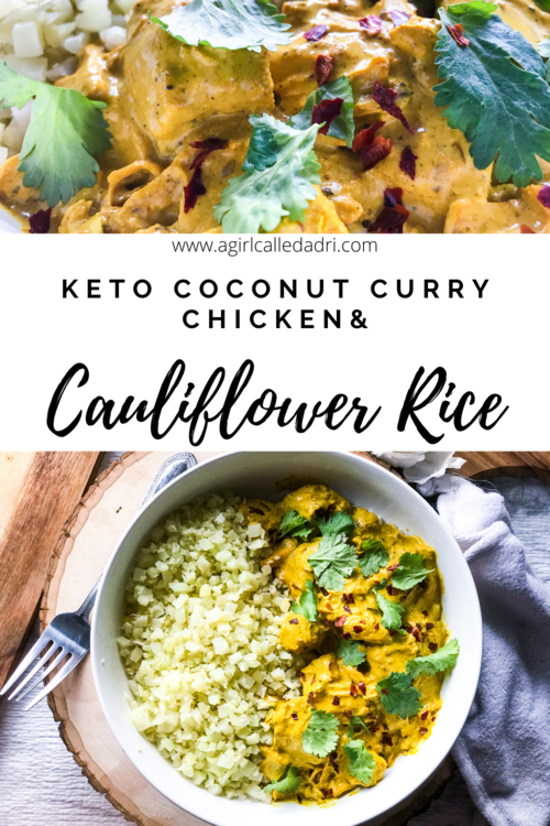 This coconut chicken curry recipe is keto-friendly, low-carb, gluten-free, and EASY. Served over cauliflower rice, the warm and inviting seasonings lend themselves to a restaurant quality dish that you'll want to make time and time again. Use mushrooms in the place of the chicken (and a butter replacement) for a delicious vegan alternative. Perfect for your slow-cooker or instant pot!