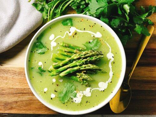 Cream of Asparagus Cheddar Soup | Keto & Low-Carb