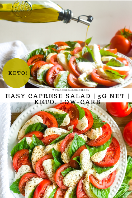 A quick and simple Italian delight, this keto-friendly Caprese Salad is a classic that you'll want to make all the time! Vine-ripened tomatoes, fresh basil, and delicious mozzarella lend themselves to this iconic salad for a healthy and fresh appetizer or side dish that can be prepared and enjoyed by just about anyone.