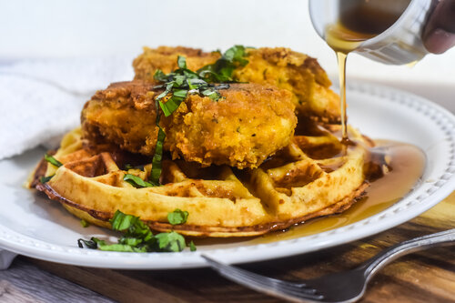 Keto Chicken and Waffles | Low-Carb