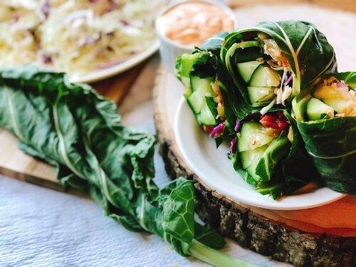 Spicy Collard Green Wraps | Keto, Low-Carb, Vegan