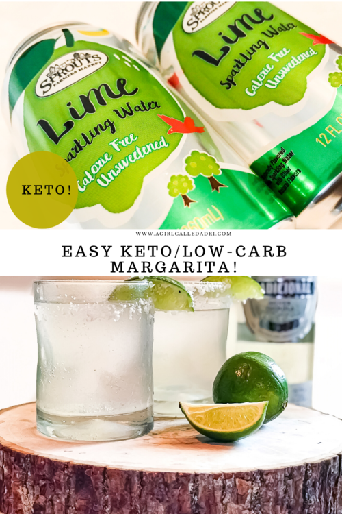 A simple and refreshing low-carb cocktail, this keto margarita hits the spot. It uses ice, blue agave silver (or blanco) tequila, fresh lime juice, and unsweetened lime-flavored sparkling water for a crisp, cool beverage that can be enjoyed any time.