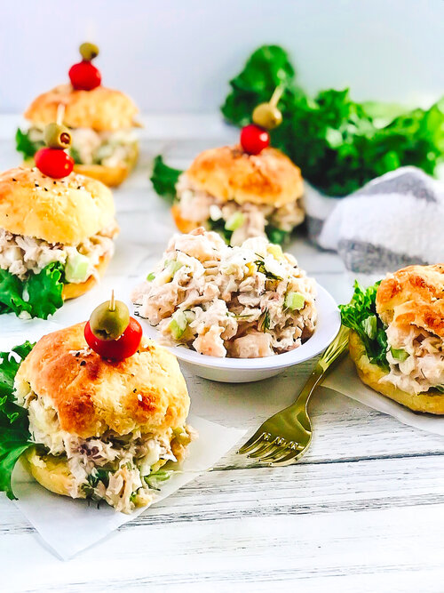 Seafood Salad Sliders on Low-Carb Buns | Keto, Low-Carb