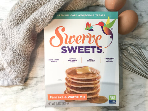 Box of Swerve brand pancake mix.