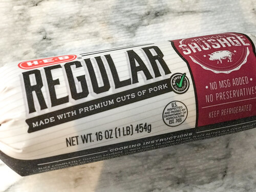 HEB Brand Regular Pork Sausage
