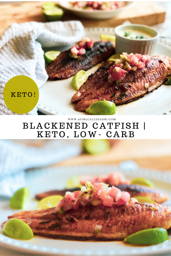 A keto-friendly take on a beloved comfort favorite: catfish. The breading is replaced with a delicious blackened seasoning that's so good, you won't even care that it's low-carb! This tender, flaky, spicy, and delicious blackened catfish will soon be one of your favorites!