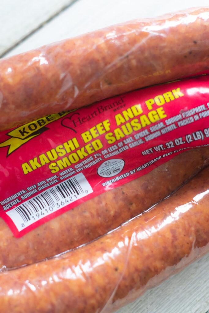 HeartBrand Beef Akaushi Beef and Pork Smoked Sausage