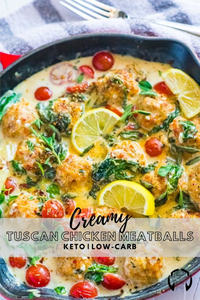 Quick, easy, and delicious these Creamy Tuscan Chicken Meatballs are the perfect weeknight meal starter. They're keto-friendly and low-carb, but delicious regardless of your dietary preferences. Serve over cauliflower rice, or right out of the pan on their own. Try it out today.