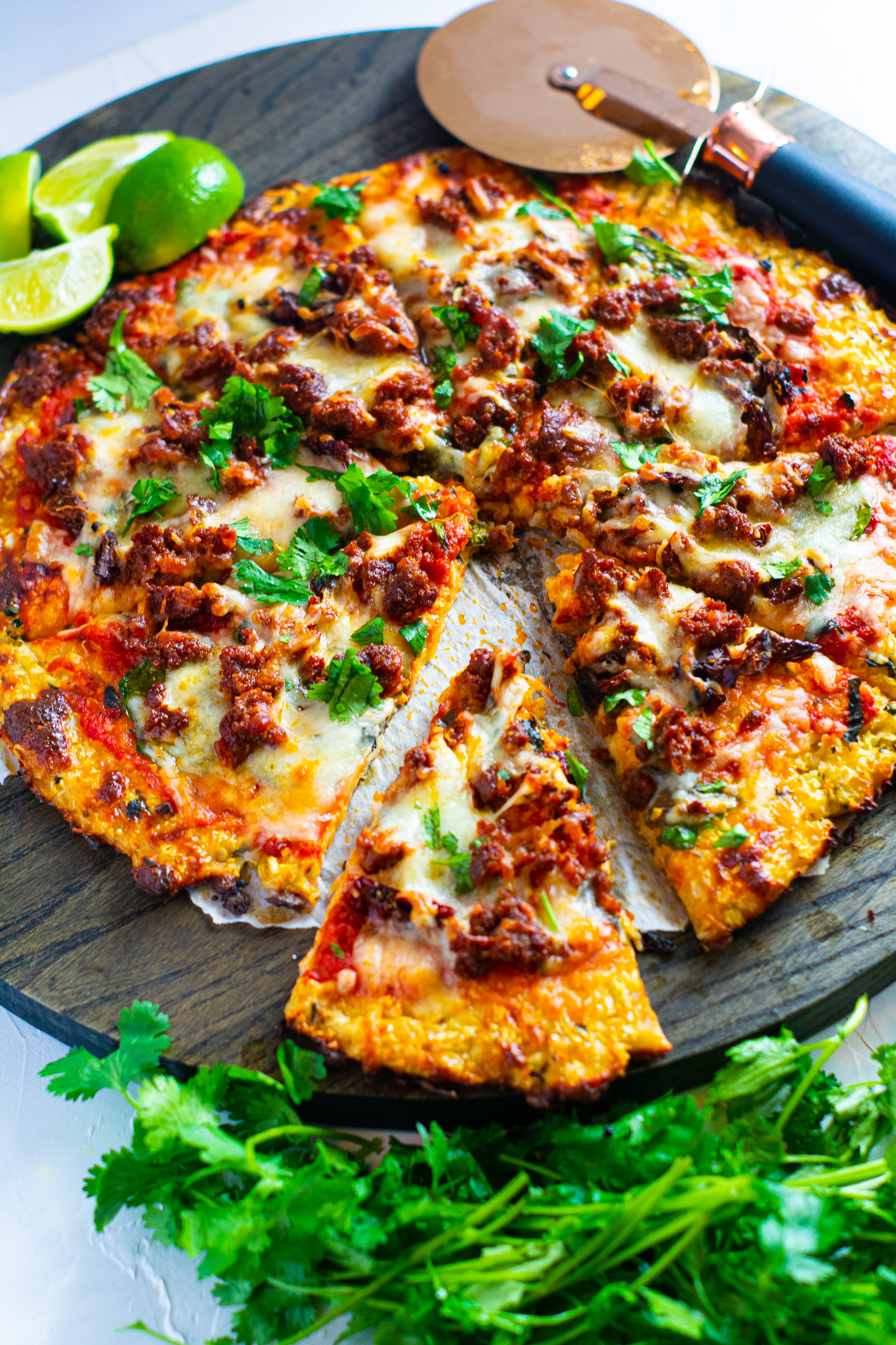 Chorizo Lime Pizza | Keto, Low-Carb