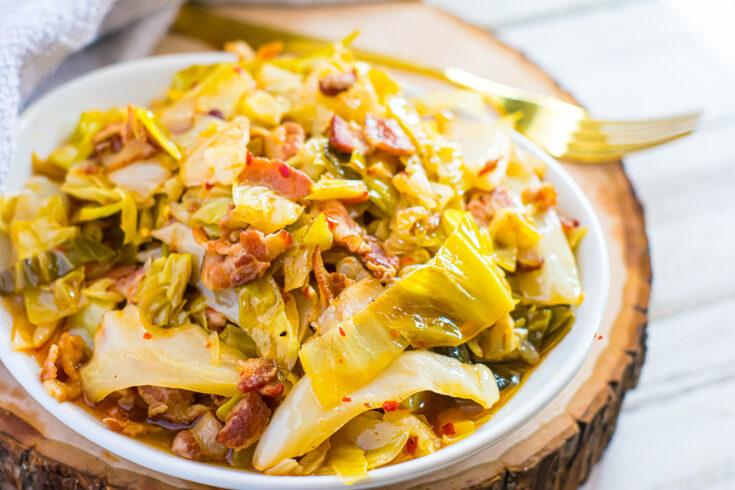 Spicy Southern Style Cabbage with Bacon | Keto, Low-Carb