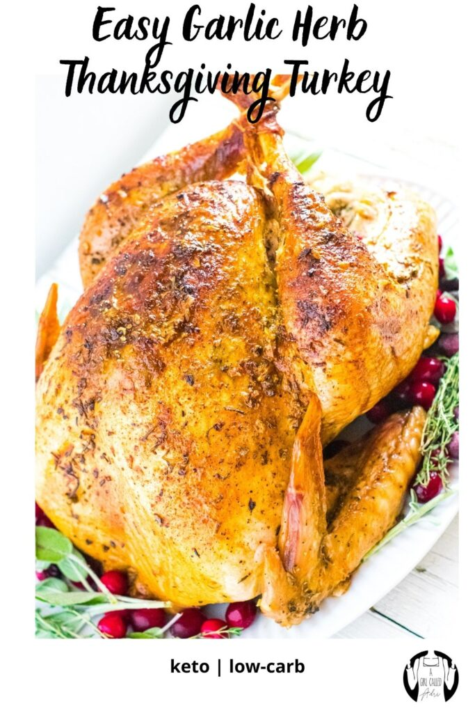 This easy to follow holiday turkey recipe produces a juicy, flavorful, tender bird that is succulent on the inside with crave-able, perfectly crisp skin on the outside. It's low-carb, keto-friendly and the perfect centerpiece for your next big meal or gathering.