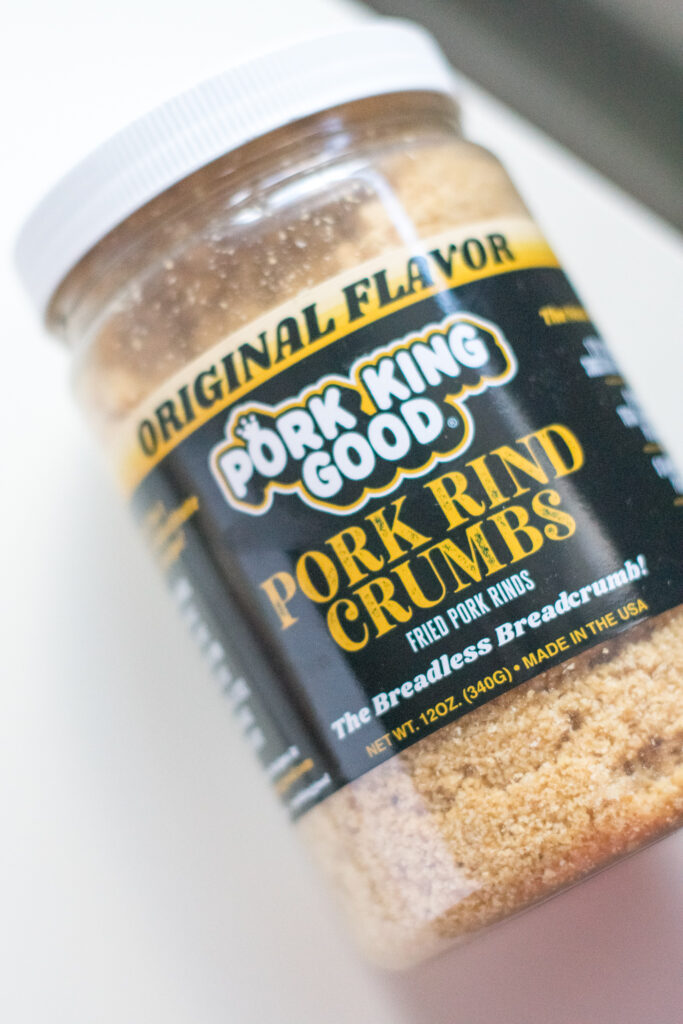 Pork King Good Brand Pork Rind Bread Crumbs in container