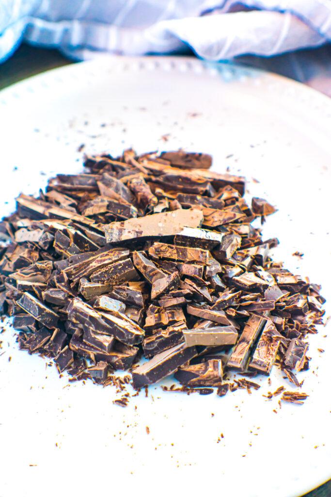 Chopped Lily's milk Chocolate Bar