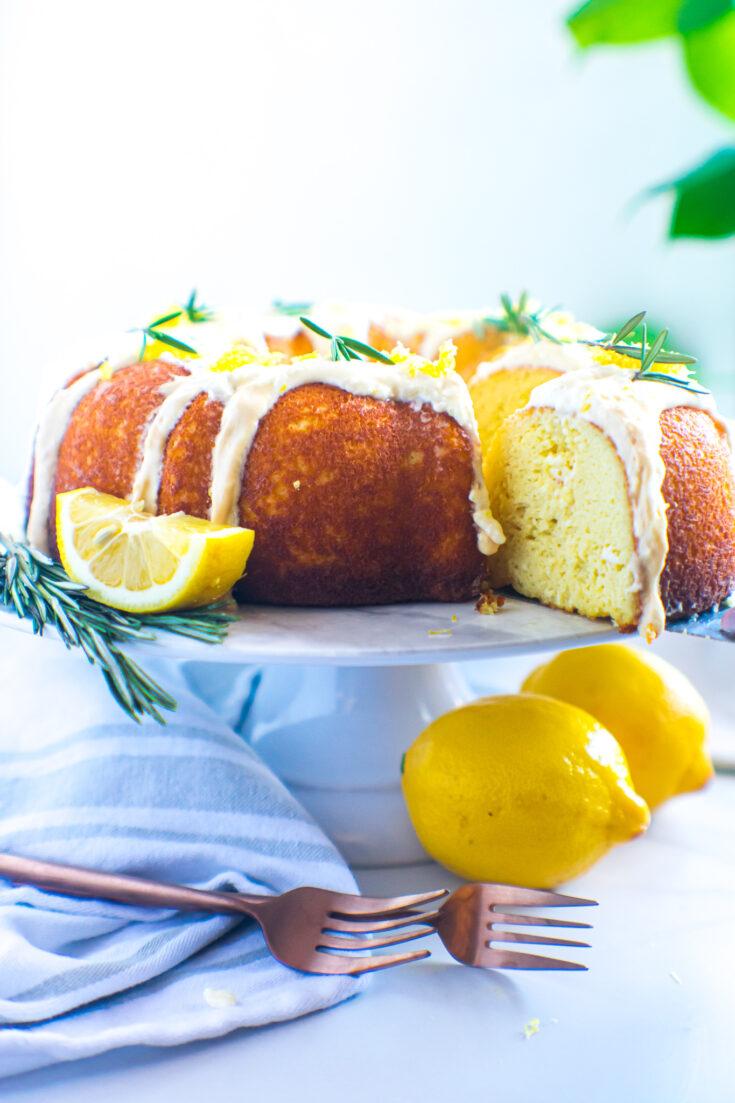 Lemon Rosemary Pound Cake   Keto, Low-Carb