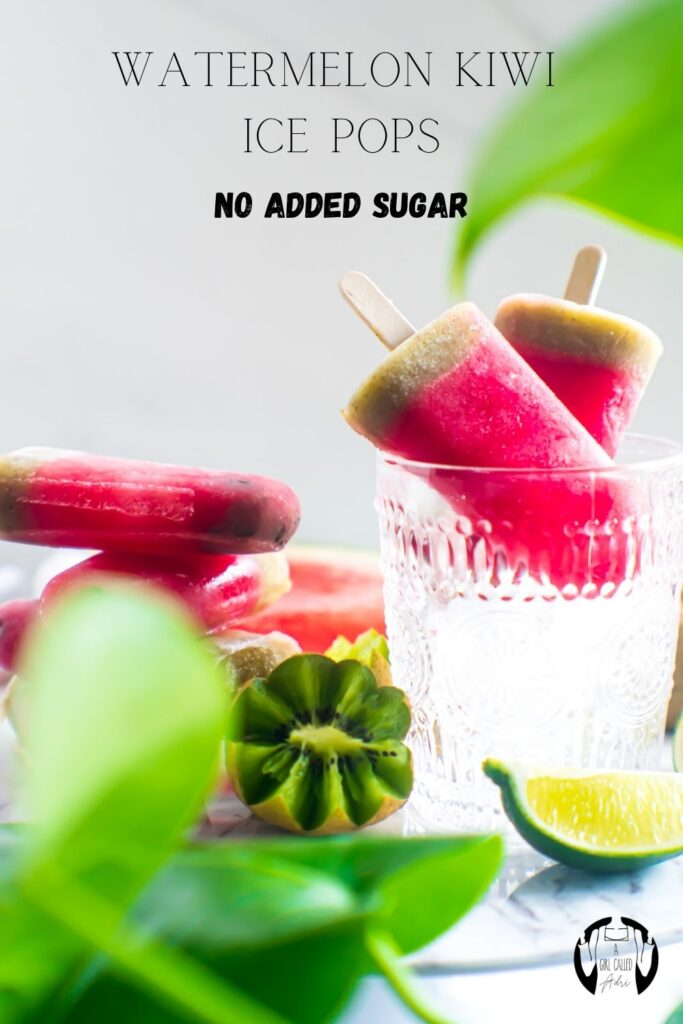 These watermelon kiwi ice pops make the perfect summertime treat for the entire family. They're simple to make, low-carb, vegan and contain no added sugar