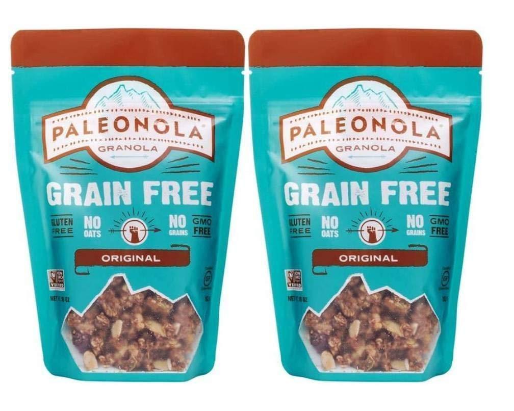 Paleonola – Grain Free Granola – Non-GMO, Grain, Soy, Gluten, Dairy Free – Low Carb Protein Snack For A Healthy Breakfast, Original, 2 Pack